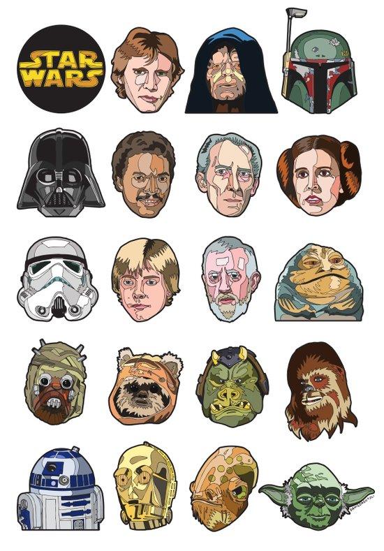 Star Wars Portraits Set Canvas Print