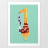 Crazy Straw Art Print