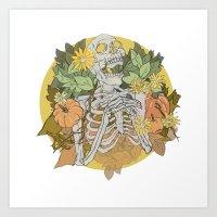 Autumn Skeleton Art Print