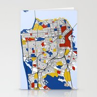 san francisco Stationery Cards featuring San Francisco by Mondrian Maps