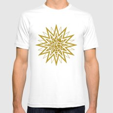 Star (gold) SMALL Mens Fitted Tee White