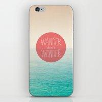 Wander don't Wonder iPhone & iPod Skin