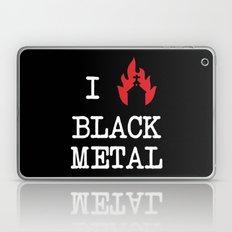 I Love Black Metal Laptop & iPad Skin