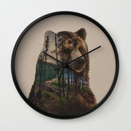 Bear Lake Wall Clock