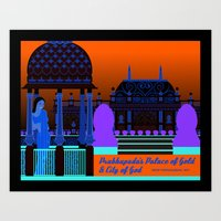 Prabhupada's Palace of Gold and City of God Art Print