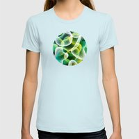 Cell Womens Fitted Tee Light Blue SMALL