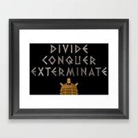 Doctor Who Dalek: Divide… Framed Art Print