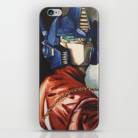 Optimus Prime With Sunflower iPhone & iPod Skin