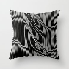 Minimal curves black Throw Pillow