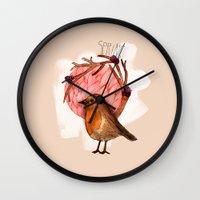 Spring Birdy / Nr. 5 Wall Clock