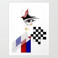 CHECKERS EYE Art Print