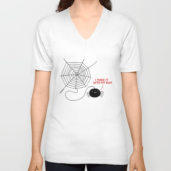 Spiders Have all the Fun V-neck T-shirt