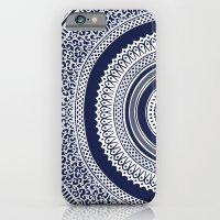 iPhone & iPod Case featuring Denim Mandala by The Digital Weaver