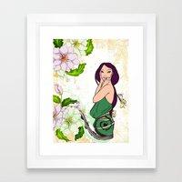 Exotic Lady Garden Framed Art Print