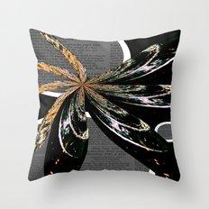Golden Burst Throw Pillow