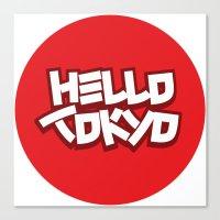 Hello Tokyo Canvas Print