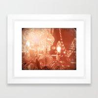cinnamon chandelier Framed Art Print