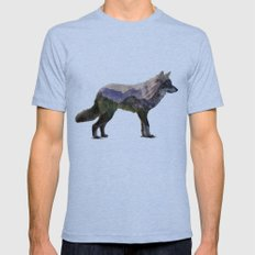 The Rocky Mountain Gray … Mens Fitted Tee Tri-Blue SMALL