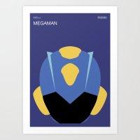 Poster Nintendo Megaman Art Print