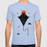 Manta Mens Fitted Tee Tri-Blue SMALL