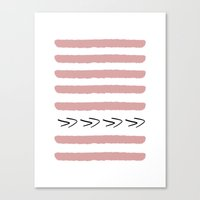 Mauve Stripes and arrows - classy college student Canvas Print