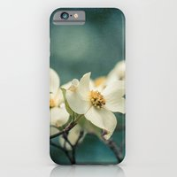 iPhone & iPod Case featuring Spring Botanical -- White Dogwood Branch in Flower by V. Sanderson / Chickens in the Trees