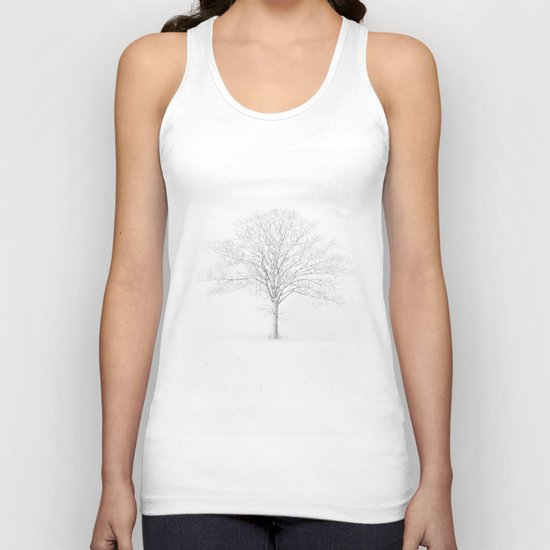 Tree in the Snow Unisex Tank Top
