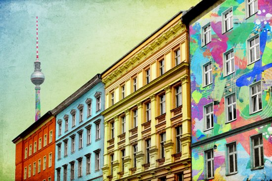 The Streets of Berlin Art Print