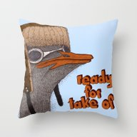 Throw Pillow featuring Ready For Take Off by Börg