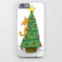 iPhone & iPod Case featuring Lucy's Christmas by Caz Haggar