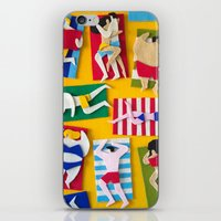 Public Beach iPhone & iPod Skin
