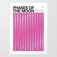 PURPLE 2015 Phases Of Th… Art Print