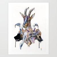 Topiary Art Print