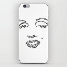 Marilyn Monroe WordsPortrait iPhone & iPod Skin