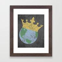 King Of The World Framed Art Print