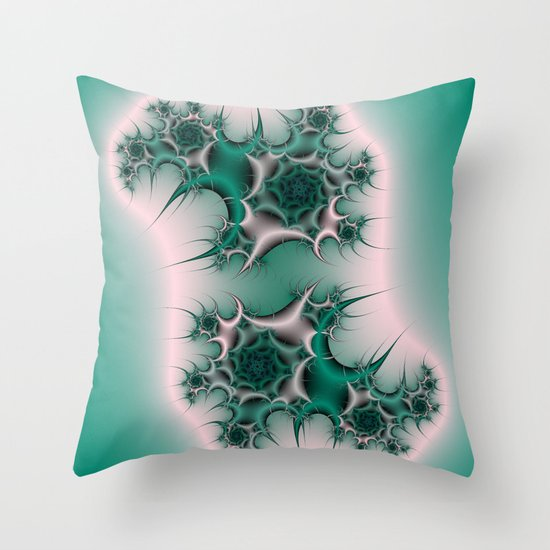 Spiral Cactus Throw Pillow