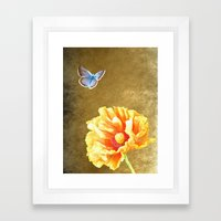 Illuminated garden Framed Art Print