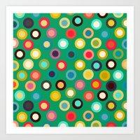green pop spot Art Print