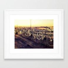 bike love  Framed Art Print