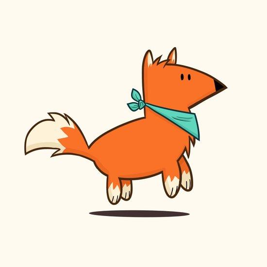 Fox Hop Art Print