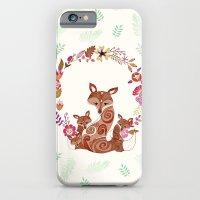 iPhone & iPod Case featuring FOX & FLOWERS by Monika Strigel