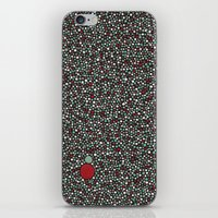 Blue W/Red Accent Dot Co… iPhone & iPod Skin