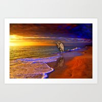 Enjoy The Moment.  Sunse… Art Print