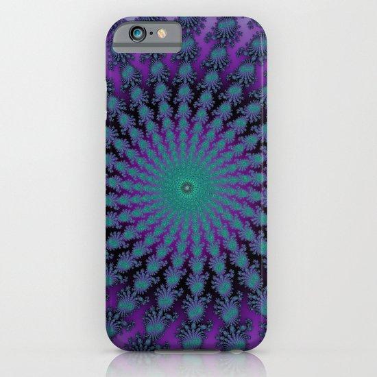 Cool Hued Purple Blue Braided Rug Fractal iPhone & iPod Case