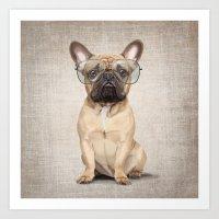 Mr Bulldog Art Print