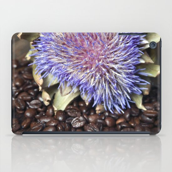 Fresh Coffee Beans & Blue Artichoke iPad Case