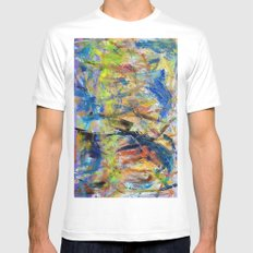 Untitled Abstract #2 White Mens Fitted Tee SMALL