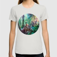 Into the Wilds Womens Fitted Tee Silver SMALL