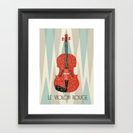 The Red Violin Framed Art Print