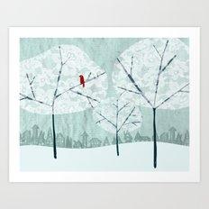 Lace Trees Art Print